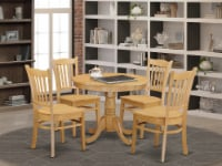 ANGR5-OAK-W 5 Pc Small Kitchen Table set - Kitchen Table and 4 Dining Chairs - 1