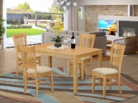 CAVA5-OAK-C 5 PcSmall Kitchen Table set - Kitchen Table and 4 Dining Chairs - 1