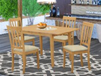 NOAN5-OAK-C 5 Pc Dining room set - Kitchen dinette Table and 4 Dining Chairs - 1