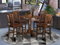 JABU5-MAH-W 5 Pc counter height pub set - high Table and 4 dinette Chairs. - 1
