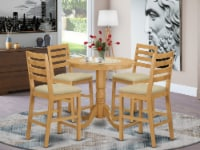 5 Pc counter height Dining room set - high Table and 4 counter height Chairs. - 1