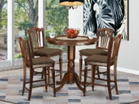 JACH5-MAH-C 5 Pc counter height Dining room set - high Table and 4 Chairs. - 1