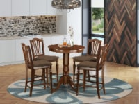 EDCH5-MAH-C 5 PC counter height set - high Table and 4 Dining Chairs. - 1