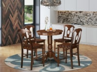 5 Pc counter height set-counter height Table & 4 counter height Chair. - 1