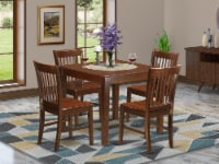 OXNO5-MAH-W 5 PC Kitchen Table set with a Table and 4 Dining Chairs in Mahogany - 1
