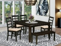 East West Furniture Parfait 6-piece Wood Dining Set in Cappuccino - 1