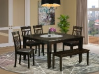 East West Furniture Parfait 6-piece Wood Dinette Set in Cappuccino - 1