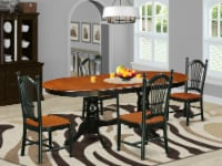 5-Piece Dining set with one Parfait Table & 4 Chairs in a Black & Cherry - 1
