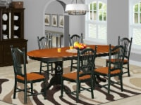 7 Piece table set with one Parfait table & six Chairs in a Black & Cherry - 1