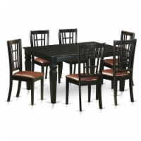 WENI7-BLK-LC 7 Pcs Dining room sets -Small Kitchen Table and 6 Kitchen Chairs - 1