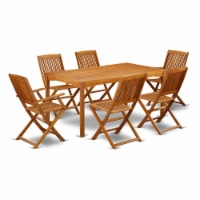 CMCM72CANA This 7 Pc Acacia Solid wood Outdoor-Furniture Set