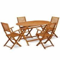DIBS5CANA This 5 Piece Acacia Wooden Balcony Set