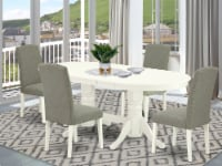 5 Pc Dining Set For 4- Table With Leaf & Four Chair With Dark Shitake - 1
