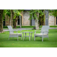 DTL3C03A 3Pc Outdoor-Furniture Natural Color Wicker Dining Set