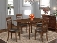 5Pc Table Set for 4-Table & 4 Chairs,Drop Leaf Table with Chairs,Mahogany - 1