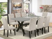 X697EL635-9 - 9-Piece a Table Set - 8 Chairs and Kitchen Table Solid Wood Frame - 1
