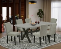X697AB106-7 7-Pc Table Set-6 Chairs & 1 Table Top with High Chair Back-Black - 1
