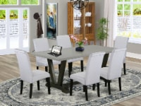 V697BA105-7 7-Pc Dining Set-6 Chairs & 1 Table Top with High Chair Back-Black - 1