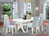 X027CE215-7 - 7-Piece table Set - 6 Chairs & Dinette Table Hardwood Frame - 1
