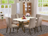 X726FL716-7 - 7-Piece a Table Set - 6 Chairs and Kitchen Table Solid Wood Frame - 1