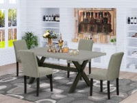 X697AB106-5 5-Pc Dinette Set-4 Chairs & 1 Table Top with High Chair Back-Black - 1