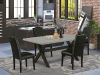 X697EN169-5 5-Pc Dining Set-4 Chairs & 1 Table Top with High Chair Back-Black - 1