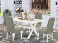 5-Pc Dinette Set Included 4 Chairs and Table - Linen White - 1