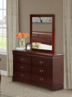 Louis Philippe Dresser and Mirror in Phillip Metallic Gold - 1