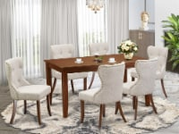 -A table set of 6 excellent Chairs, & a fantastic  wooden table with Mahogany - 1