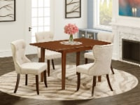 A table set of 4 Chairs, & a fantastic 12   wooden table in Mahogany - 1