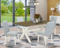 5-Pc Kitchen Table Set Includes 4 Chairs and a Breakfast Table - Linen White - 1