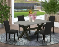 5-Pc Kitchen Table Set Includes 4 Chairs and a Rectangular Table - Black - 1