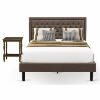 East West Furniture 2-piece Traditional Wood Bedroom Set in Brown - 1