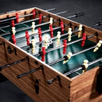 Lancaster 3 in 1 Pool Billiard Slide Hockey Foosball Combo Arcade Table (2 Pack)