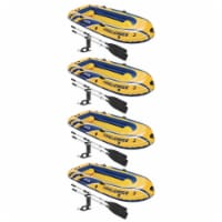 Intex Challenger 3 Inflatable Raft Boat Set With Pump And Oars 68370EP (4 Pack) - 1 Unit