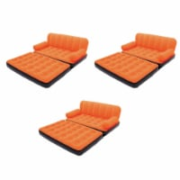Bestway Multi-Max Air Couch & Bed with Sidewinder AC Air Pump, Orange (3 Pack) - 1 Unit