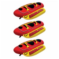 AIRHEAD HD-2 Hot Dog Double Towable Inflatable Lake Tube 1-2 Person (3 Pack) - 1 Unit