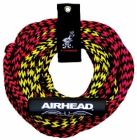 Airhead Tube Rope 2 Section w/ Floater 2 Rider Towable Lake Boat Water (6 Pack) - 1 Unit