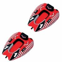 AIRHEAD AHVI-F1 Viper 1 Single Rider Cockpit Inflatable Lake Water Tube (2 Pack)