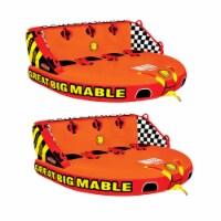 SPORTSSTUFF Great Big Mable Quadruple Rider Inflatable Towable Tube (2 Pack) - 1 Unit