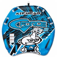 Airhead G-Force 2 Inflatable Double Rider Inflatable Towable Tube, Blue (2 Pack)