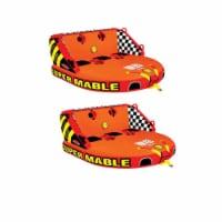 SPORTSSTUFF Super Mable Triple Rider Lake Boat Towable Tube (2 Pack) - 1 Unit