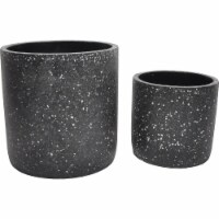 Moes Home Collection VZ-1009-02 Kasvaa Planter - Black - 14 x 13.5 x 13.5 in. - Set of 2 - 1