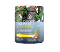 PlantFusion Fast Fats Nootropic Pineapple Coconut Flavor Dietary Supplement