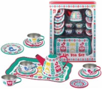 Champion Bird Print Tin Tea Set