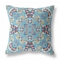 Amrita Sen Earth and Heaven 26  Fabric Outdoor Zippered Pillow in Blue - 1