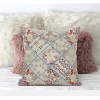 Amrita Sen Fall Patch Snowflowers 20 x20  Suede Pillow in Dark Grey Blue - 1