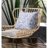 Amrita Sen Paisley on Abstract 16 x16  Suede Pillow in Peach Cream Black - 1