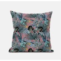 Amrita Sen Plant Illusion 18 x18  Suede Pillow in Gold Cream - 1