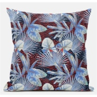 Amrita Sen Plant Illusion 16 x16  Suede Pillow in Green Indigo Beige - 1